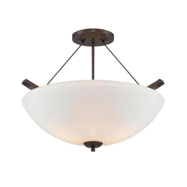 PHX Antique Iron and Glass Shade Recessed Lighting 10892