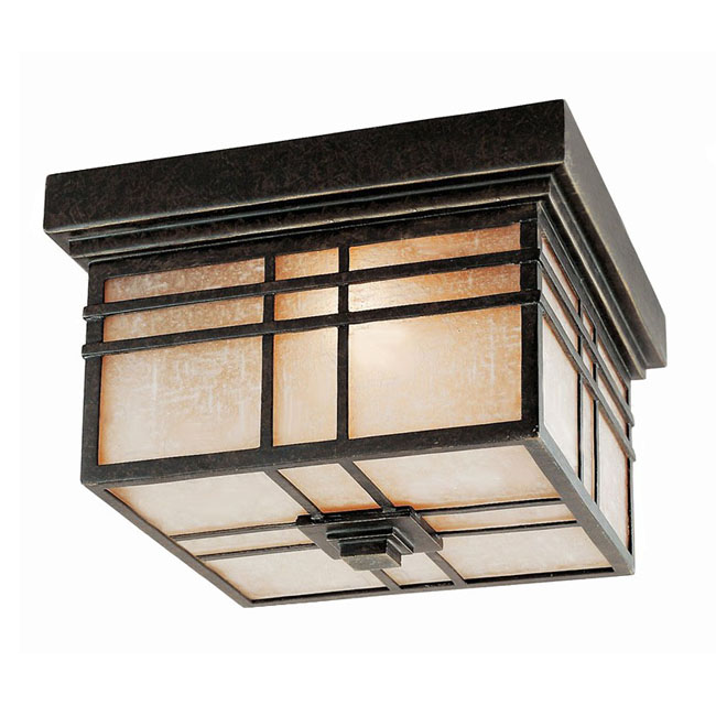 Antique Copper and Ice Glass Recessed Lighting 10157