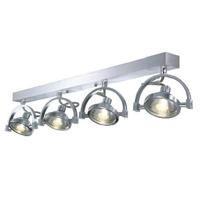 Modern 4 Spots Halogen Recessed Lighting in Brushed Finish 11037