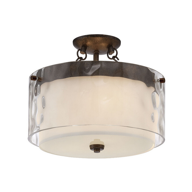 Country Glass and Iron Recessed Lighting 12208