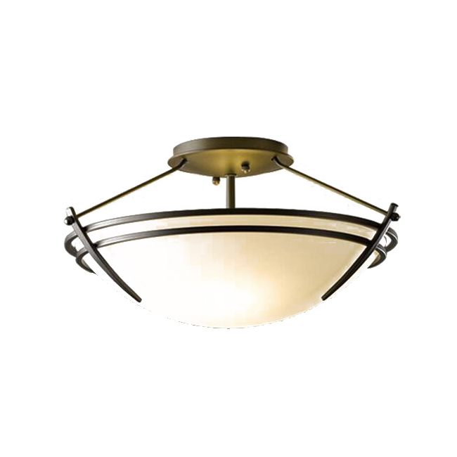 Country Round Matte Glass And Iron Recessed Lighting 12269