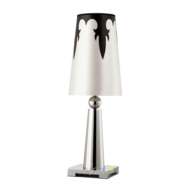 Aluminium polished chrome finished desk lamp 7585