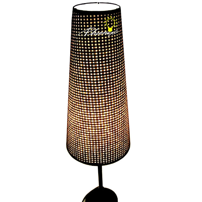 Milan Simple Linen Fabric Table Lamp in Chrome Finish 8189