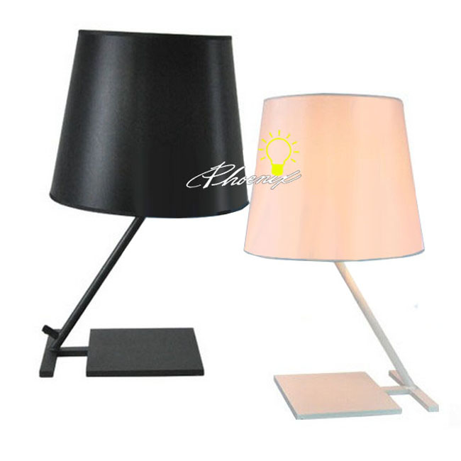 Modern Simple Fabric Table Lamp in Baking Finish 8227