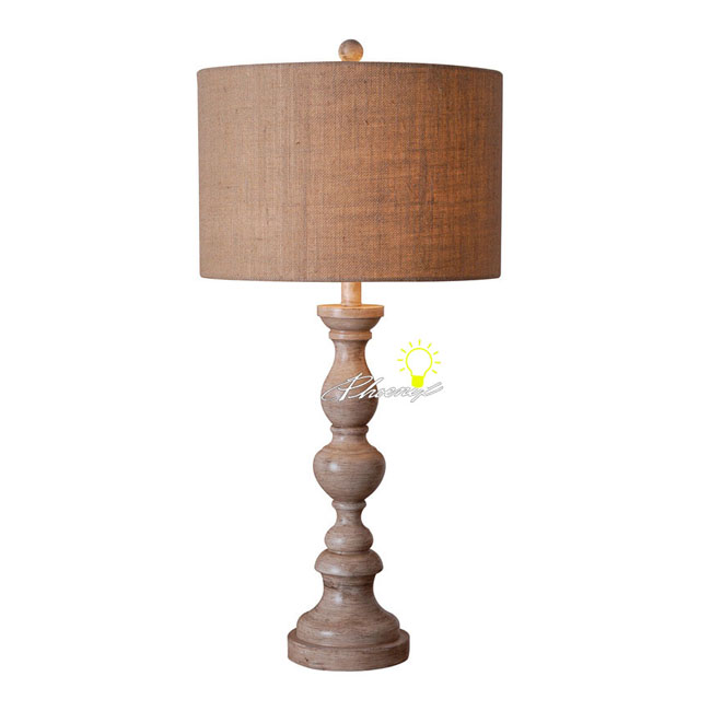Antique Natrual Apricot Linen Shade Table Lamp 8596-2