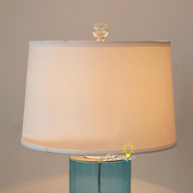 Modern Glass and Fabric Table Lamp 8691