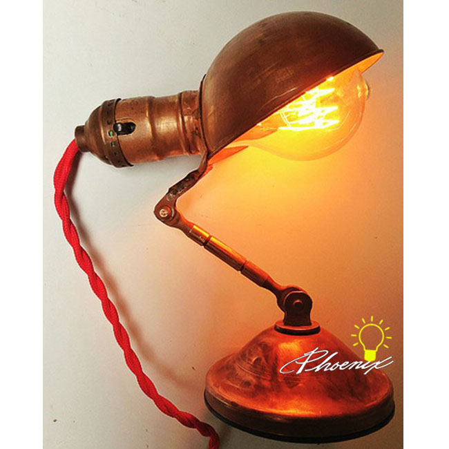 Handmade Antique Copper Table lamp or Wall Lamp 8790