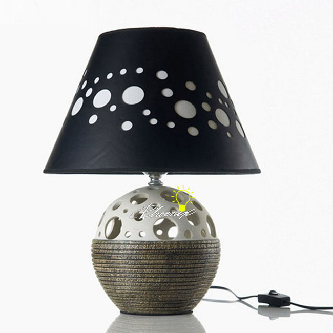Ceramic and Fabric Table Lamp 8812