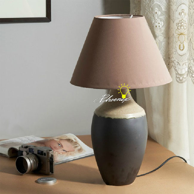 Ceramic and Fabric Table Lamp 8814