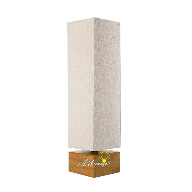Modern Country Wood and Fabric Table Lamp 8834