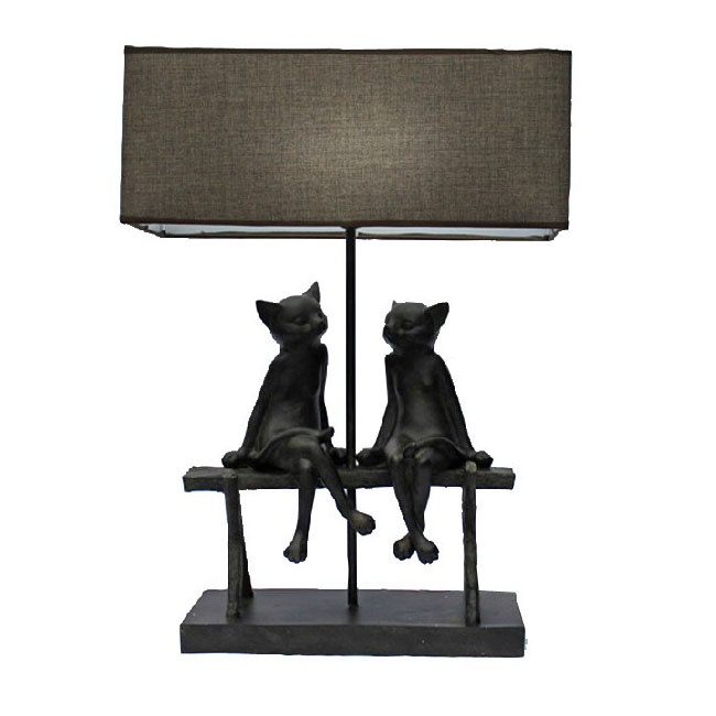 Modern Cats Fabric Table Lamp 9270