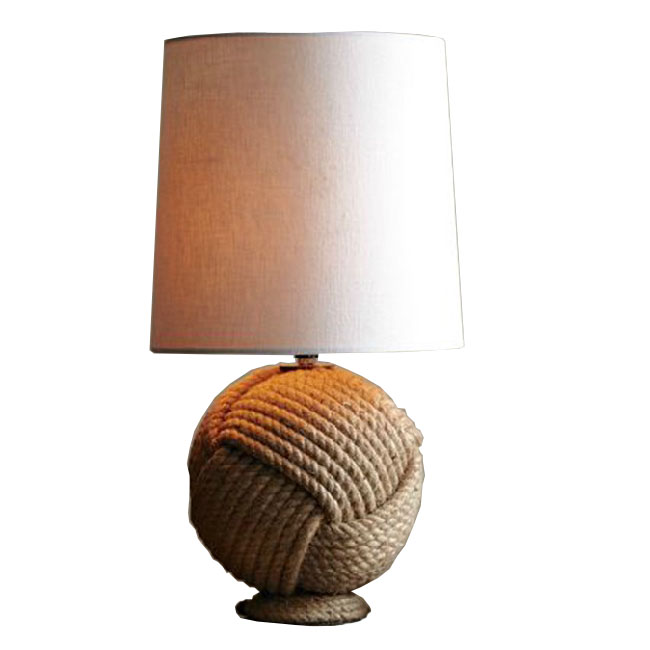 Modern Hemp Rode and Fabric shade Table Lamp 9624