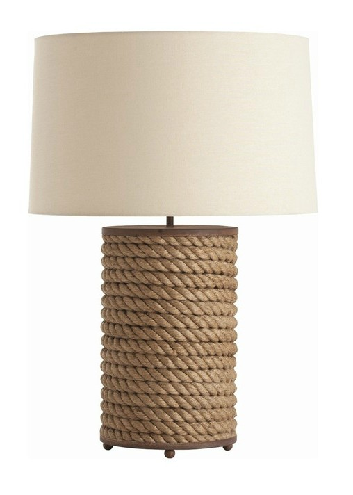 Modern Hemp Rode and Fabric shade Table Lamp 9625