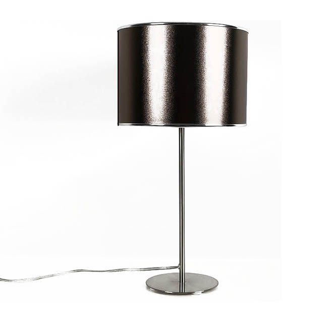 Modern Baked PVC Table Lamp in Matte Nickel Finish 10194