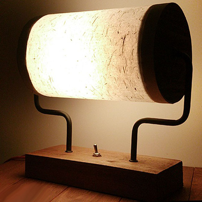 LOFT Wood and Flax Shade Table Lamp 10285