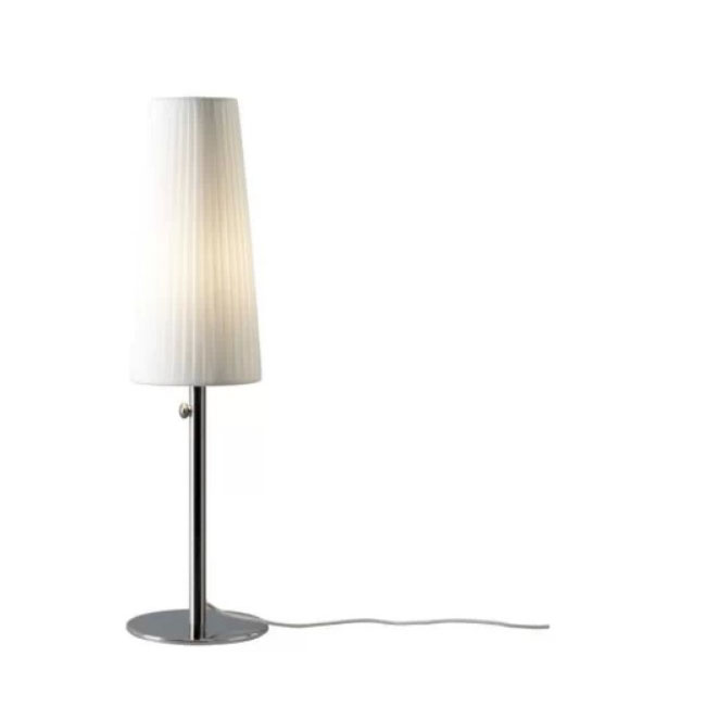 Modern IKEA Metal and Fabric Shade Dimming Lighting Table Lamp 1