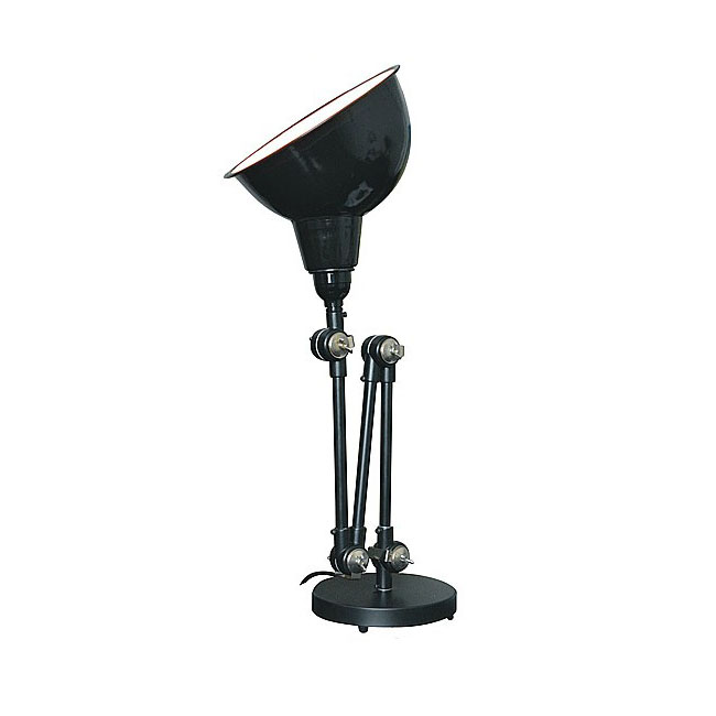 Modern Industrial Metal Adjustable Height Table lamp in Baking F