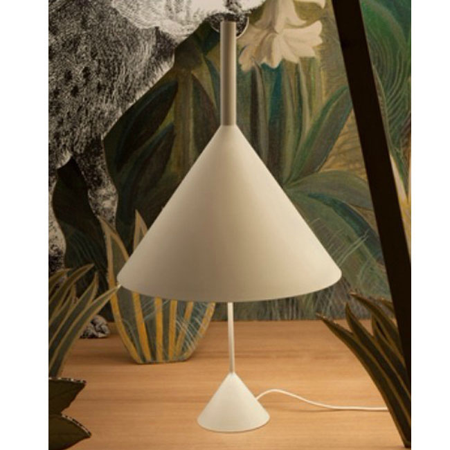Modern Funnel Table Lamp in Baking Finish 10642
