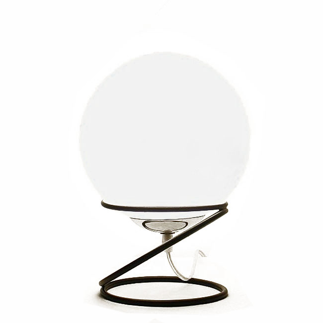 Modern White Orb Glass Table Lamp 10684