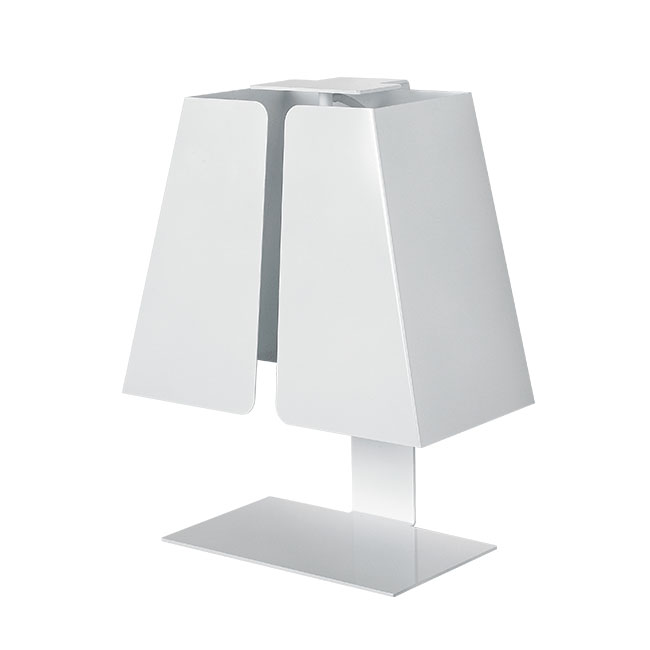 Italy Modern White Metal Table Lamp in Baking Finish 10685