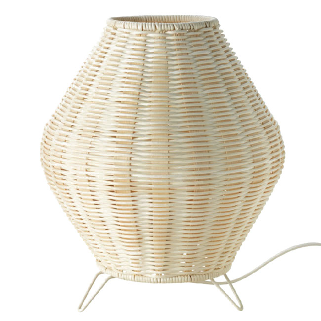 Country Hand Waved Rattan Table Lamp 10703