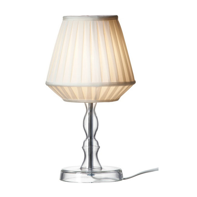 Modern Fabric Shade and Glass Site Table Lamp 10712