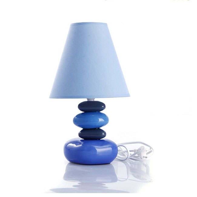 Modern Ceramic And Flax Shade Table Lamp  10725