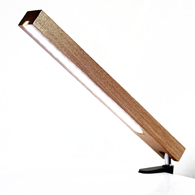 Modern Wood Squared Timber LED Table Lamp 10789