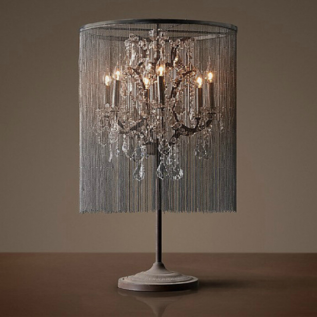 North Country Chain and Crystal Table Lamp 7476