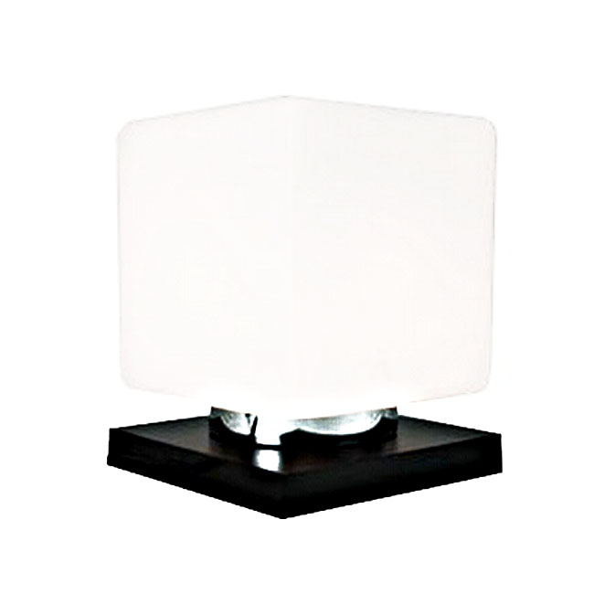 Modern Depolished Square Glass Table Lamp 8043