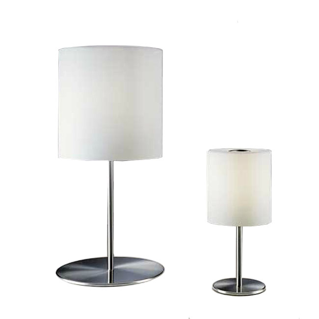 Modern Fabric Shade Table Lamp in Brushed Finish 11059