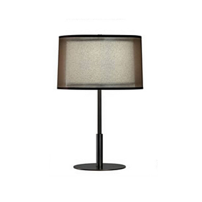Post Modern Gauze and Flax Shade Table Lamp 11209