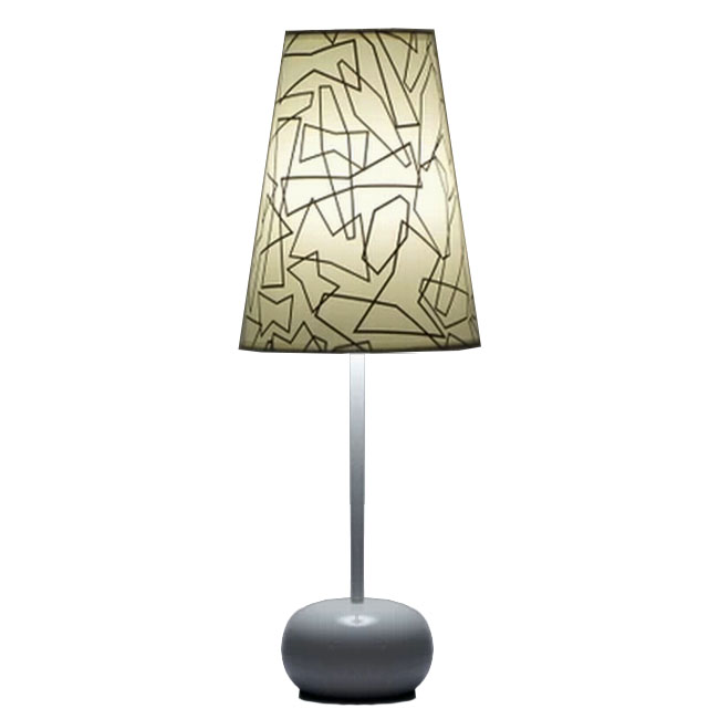 Modern Fabric Shade and  Acrylic Site Table Lamp 11223