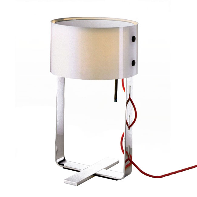 Modern Metal and White Glass Shade Table Lamp 11226