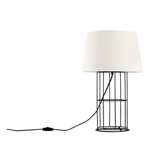 North Country Iron Frame and Flax Shade Table Lamp 11389
