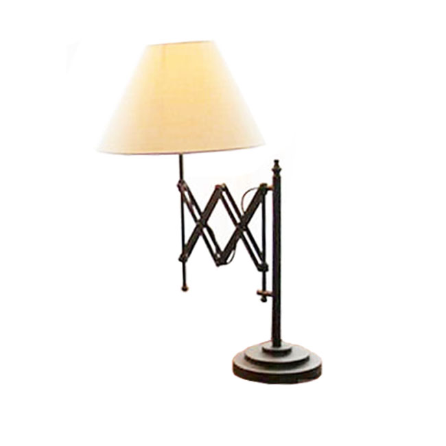 LOFT Industrial Adjustable Arm and Flax ShadeTable Lamp 11485