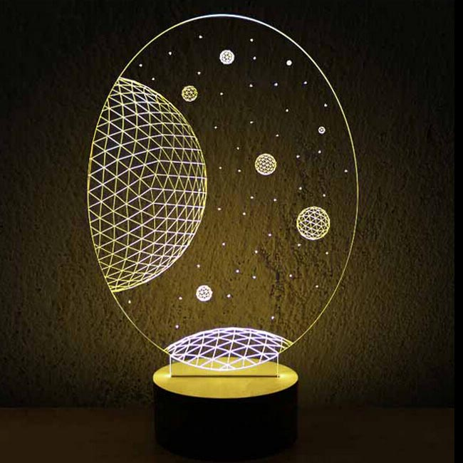 Modern Acrylic 3D LED Table Lamp 11968