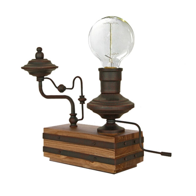 Steam Punk Rusted Water Pipe Table Lamp 12061