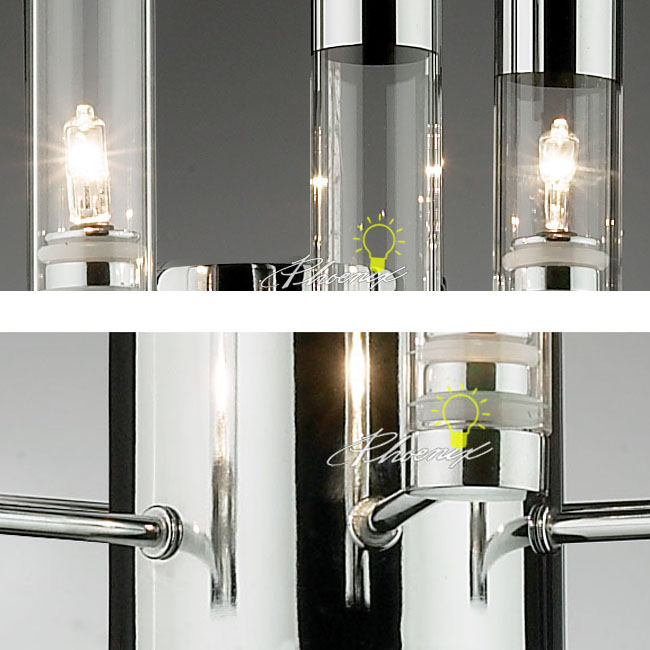 Modern 3 Crystal Tubes Wall Sconce 7390