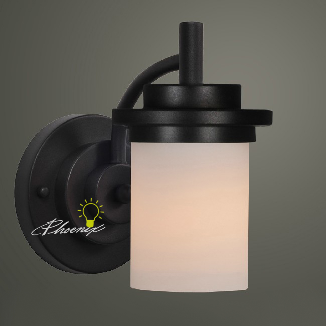 Post Modern Cast Iron and Marble Shade Wall Sconce 7474