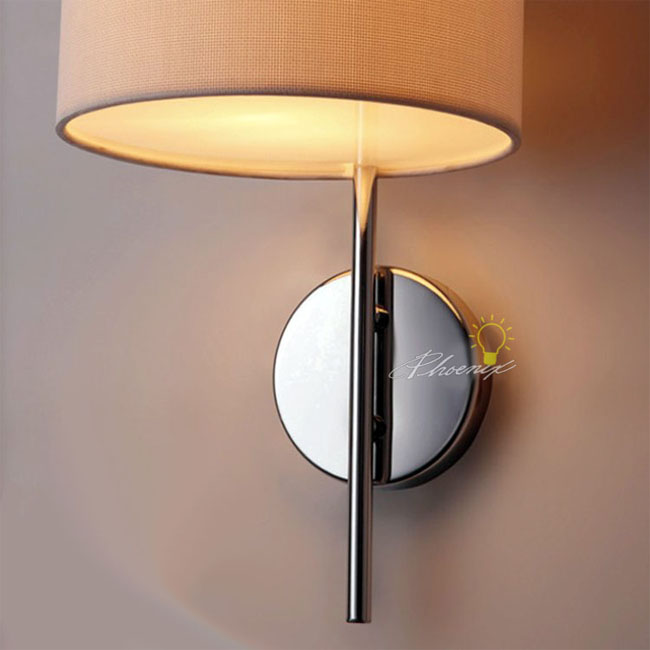 Fabric Wall Sconce in Polished Chrome Finish 7623