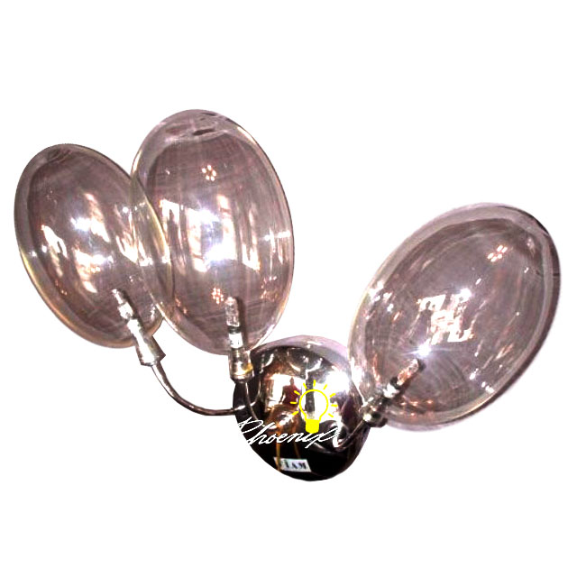 FIAM Glass Bubble Wall Sconce in Chrome Finish 8023