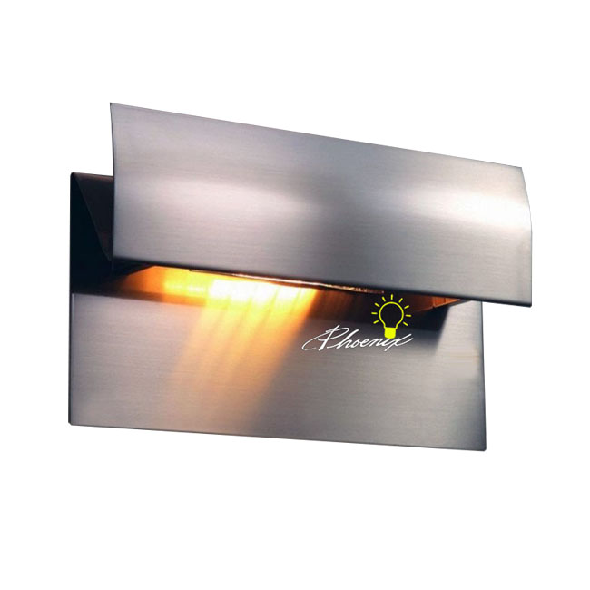 FIAM Glass Wall Sconce in Brushed Nickel Finish 8030