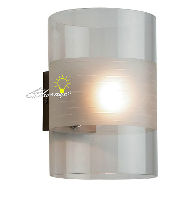Modern Clear and Depolished Glass Wall Sconce 8355