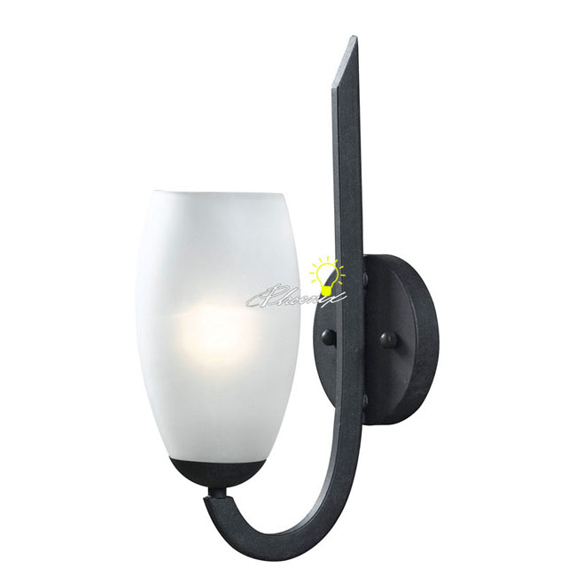 Modern Simple Iron Art and Depolished Glass Wall Sconce 8625
