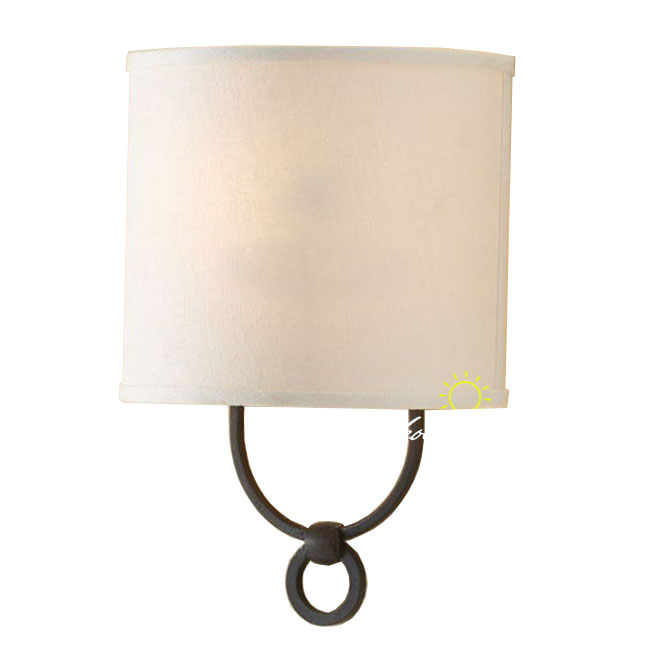 Antique Linen Shade Wall Sconce in Painted Finish 8698