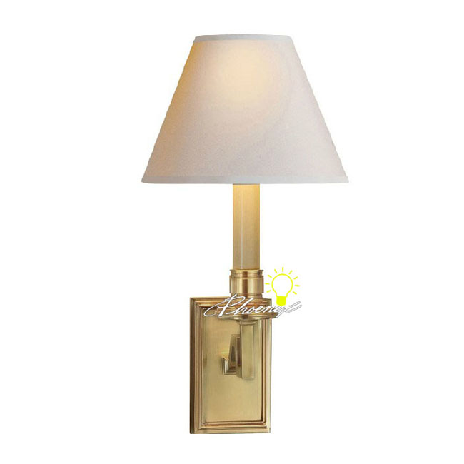 Modern Fabric Shade Copper Wall Sconce 8762