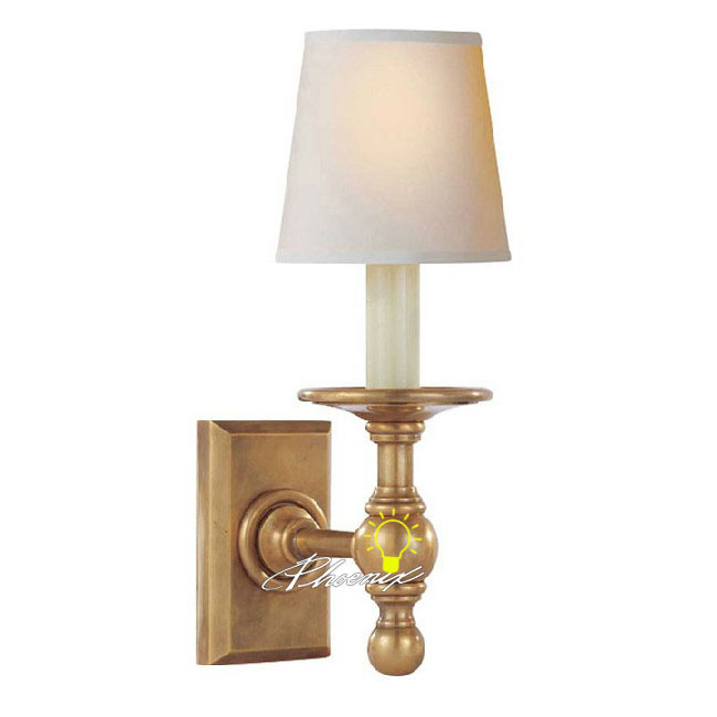 Modern Fabric Shade Copper Wall Sconce 8764