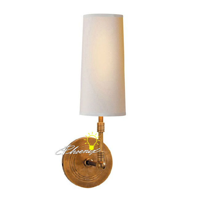 Antique Fabric and Copper Wall Sconce 8773