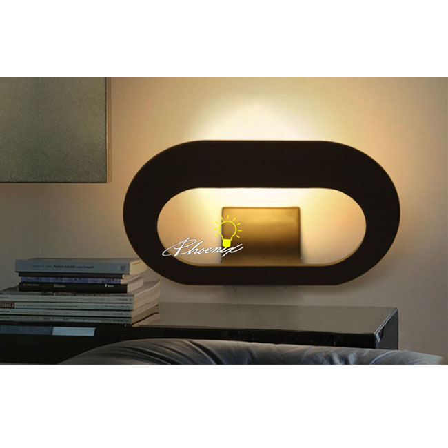 Modern LED Metal Wall Sconce in Baking Finish 8890